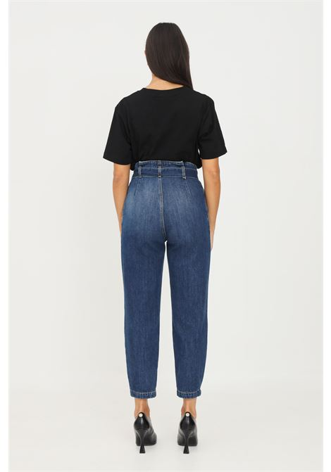 Jeans donna gaelle a vita alta con cintura in vita GAELLE   Jeans   GBD10435BLU
