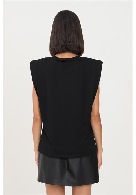 Black women's t-shirt by gaelle paris, sleveless model with straps GAELLE | T-shirt | GBD9850NERO