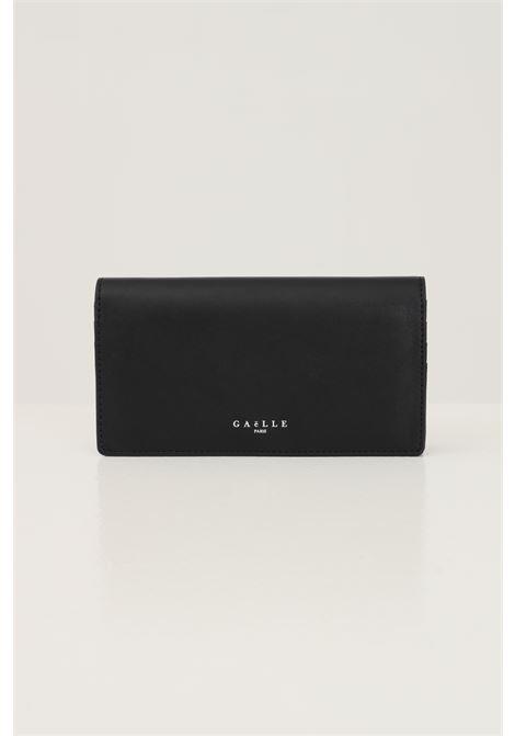 Black women's clutch by gaelle with logo print in contrast GAELLE | Bag | GBDA2629NERO