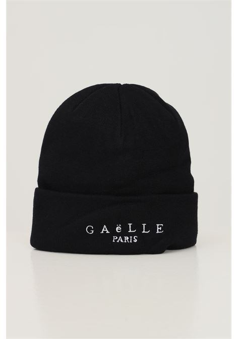 Black women's hat by gaelle with embroidered logo in contrast GAELLE | Hat | GBDA2636NERO