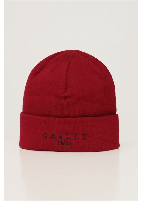 Bordeaux women's hat by gaelle with embroidered logo in contrast GAELLE | Hat | GBDA2636ROSSO
