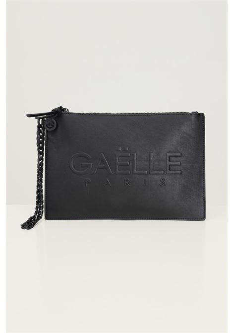 Pochette donna nero gaelle con logo frontale tono su tono GAELLE | Borse | GBDA2651NERO