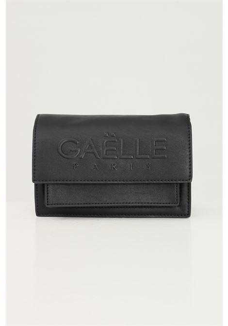 Borsa donna nero gaelle con catena fissa e logo frontale in rilievo GAELLE | Borse | GBDA2653NERO