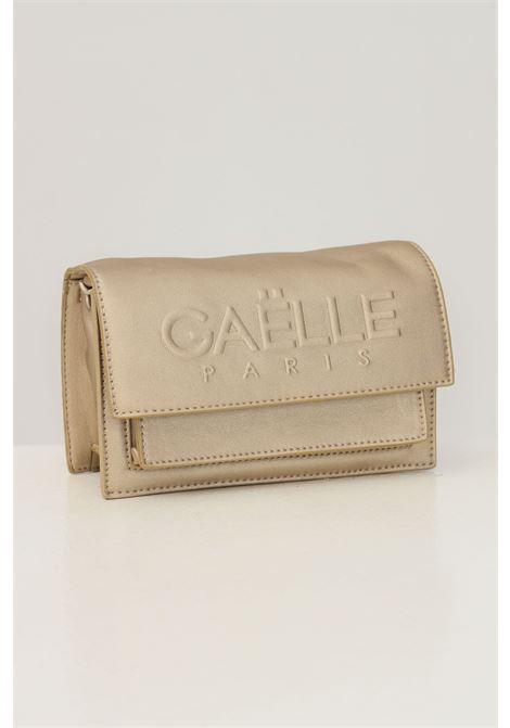 Borsa donna oro gaelle con catena fissa e logo frontale in rilievo GAELLE | Borse | GBDA2653ORO