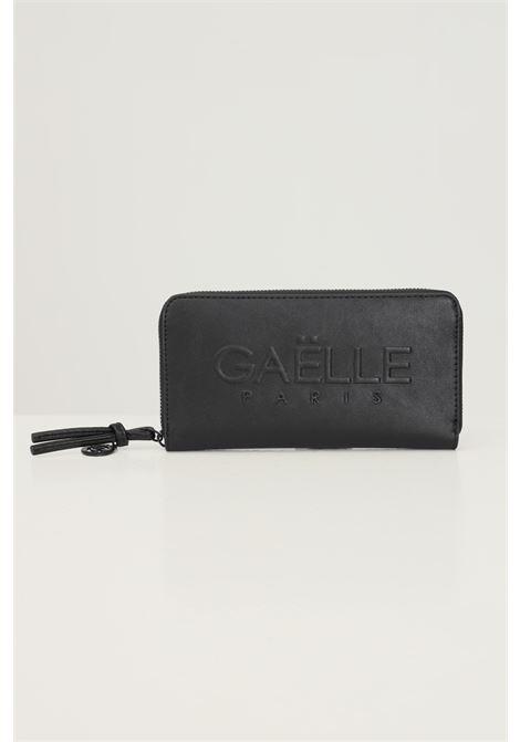 Portafogli donna nero gaelle con logo tono su tono in rilievo GAELLE | Portafogli | GBDA2663NERO