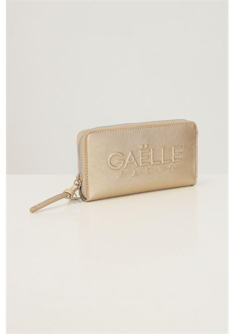 Portafogli donna oro gaelle con logo tono su tono in rilievo GAELLE | Portafogli | GBDA2663ORO
