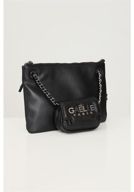 Pochette donna nero gaelle con tracolla e applicazione mini bag GAELLE | Borse | GBDA2691NERO