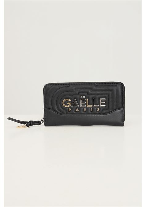 Black women's wallet by gaelle with logo application on the front GAELLE | Wallet | GBDA2703NERO