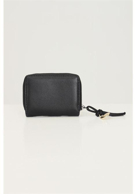 Mini portafoglio donna nero gaelle con applicazione logo frontale GAELLE | Portafogli | GBDA2704NERO