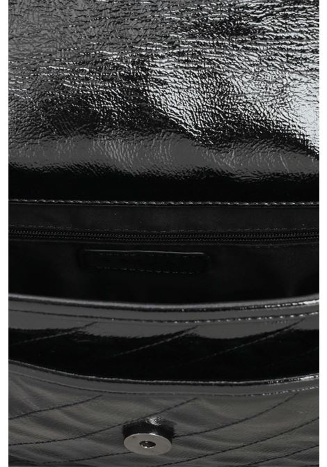Borsa donna nero gaelle con tracolla in catena e logo con strass GAELLE | Borse | GBDA2753NERO