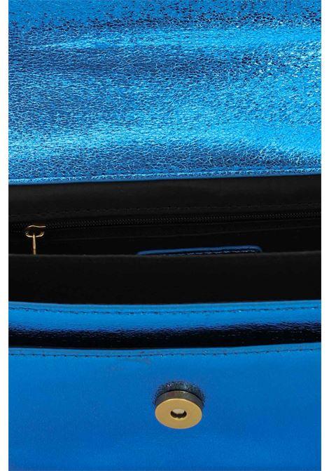 Borsa donna blu gaelle con tracolla in catena e tessuto GAELLE | Borse | GBDA2762ROYAL