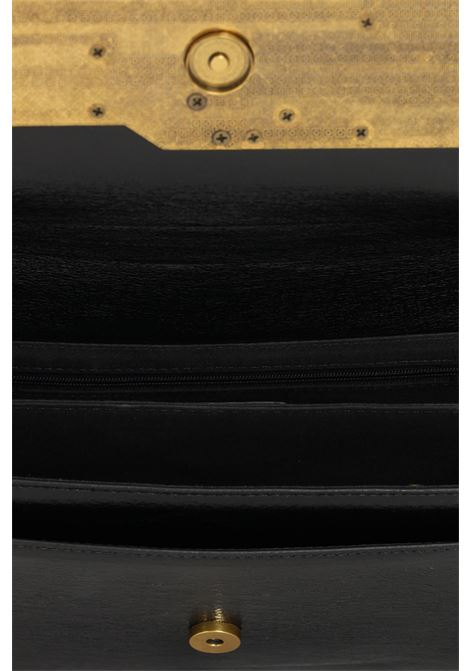 Borsa donna nero gaelle con applicazione maxi logo oro GAELLE | Borse | GBDA2764NERO