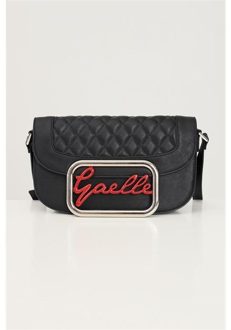 Borsa donna nero gaelle con tracolla regolabile e applicazione logo frontale GAELLE | Borse | GBDA2771NERO