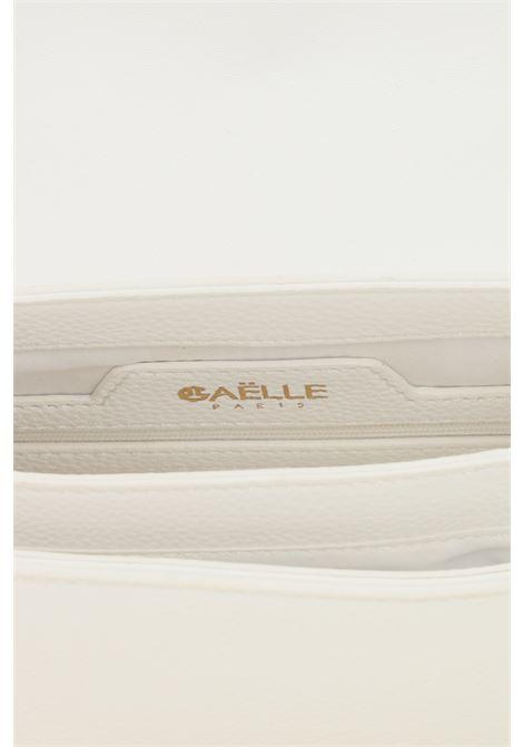 Borsa donna bianco gaelle con tracolla e applicazione logo oro GAELLE | Borse | GBDA2841BIANCO