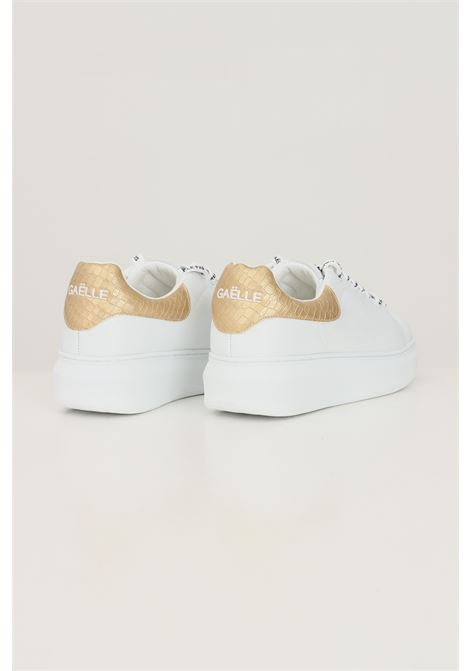 White women's addict tallone stampa sneakers by gaelle GAELLE | Sneakers | GBDC2354GOLD