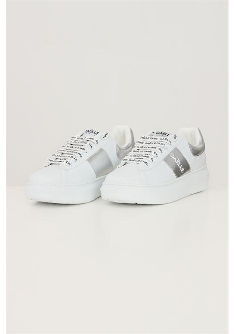 White women's addict inserto laminato sneakers by gaelle GAELLE | Sneakers | GBDC2355SILVER