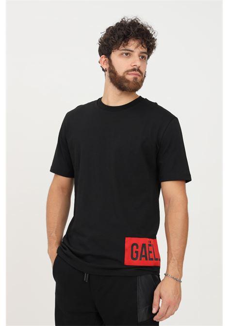T-shirt uomo nero gaelle a manica corta con logo a contrasto GAELLE | T-shirt | GBU4958NERO