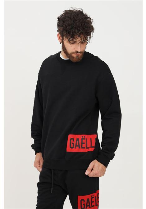 Felpa uomo nero gaelle a girocollo con logo sulla parte inferiore GAELLE | Felpe | GBU4959NERO