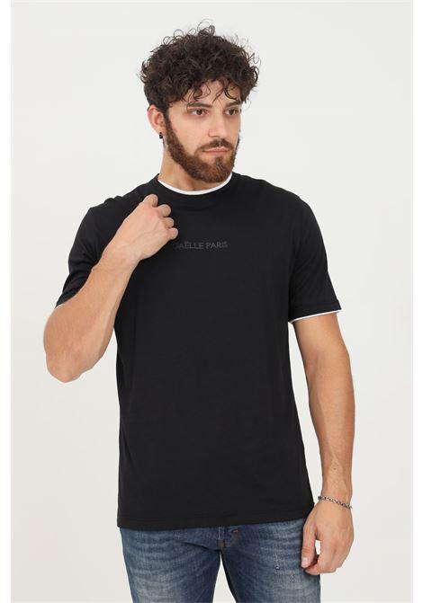 T-shirt uomo nero gaelle a manica corta con bordature a contrasto GAELLE | T-shirt | GBU4990NERO