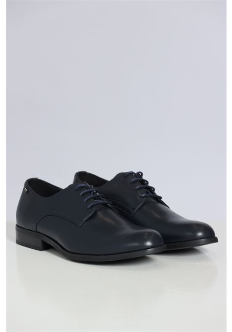Blue men's shoes by gian marco venturi with string GIAN MARCO VENTURI | Party Shoes | AL0032NAVY