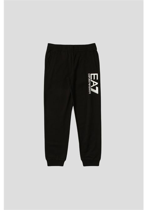 Pantaloni bambino nero giorgio armani con logo a contrasto GIORGIO ARMANI | Pantaloni | 6KBP53BJ05Z1200