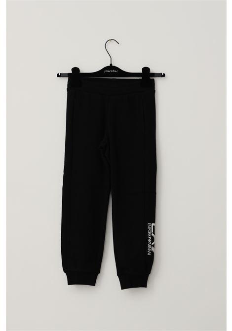Pantaloni bambino nero giorgio armani con elastico in vita GIORGIO ARMANI | Pantaloni | 6KBP54BJ07Z1200