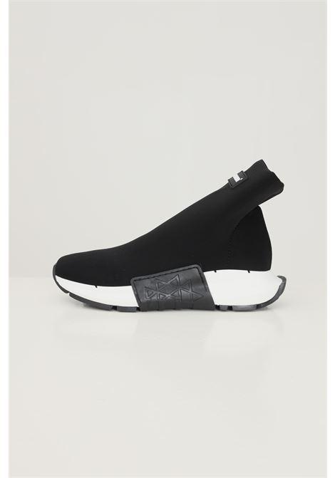 Scarpa light nero 440 g donna modello calzino con suola a contrasto GIOSELIN | Sneakers | LIGHT-440NERO