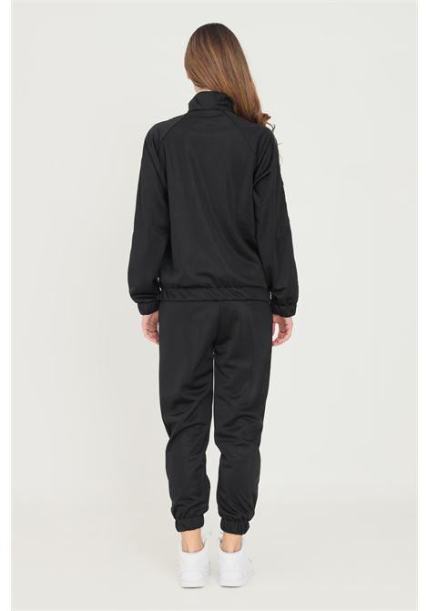 Tuta donna nero gioselin casual con zip e banda logo laterale GIOSELIN | Tute | TUTA BASICTOTAL BLACK