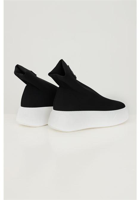 Scarpa up nero donna gioselin modello calzino con para alta a contrasto GIOSELIN | Sneakers | UPNERO