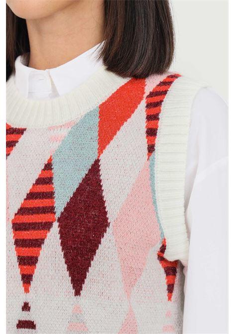 Cream women's sweater by glamorous sleeveless model GLAMOROUS | Gilet | AN4026PINK