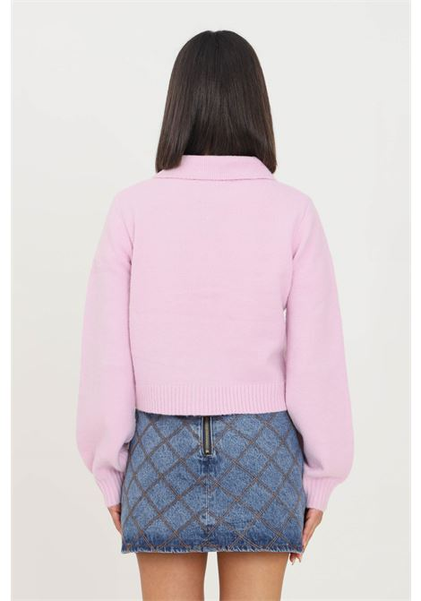 Pink women's cardigan by glamorous with buttons GLAMOROUS | Cardigan | AN4027LIGHT ORCHID