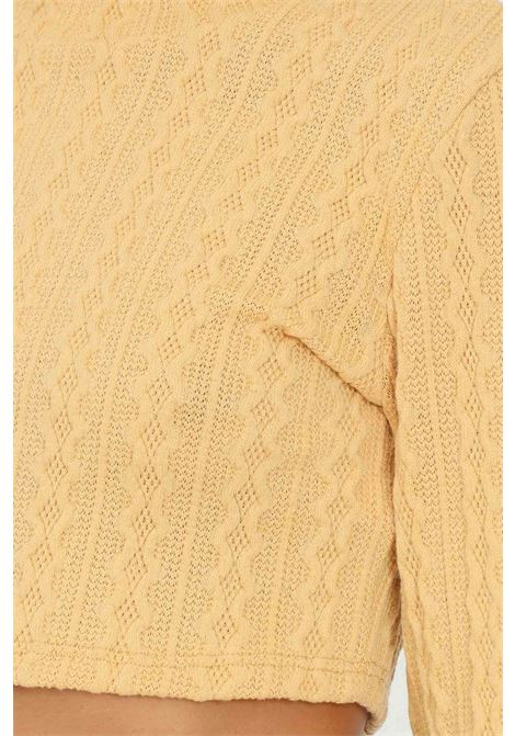 Maglioncino donna senape glamorous taglio corto GLAMOROUS   Maglieria   AN4037GOLDEN YELLOW