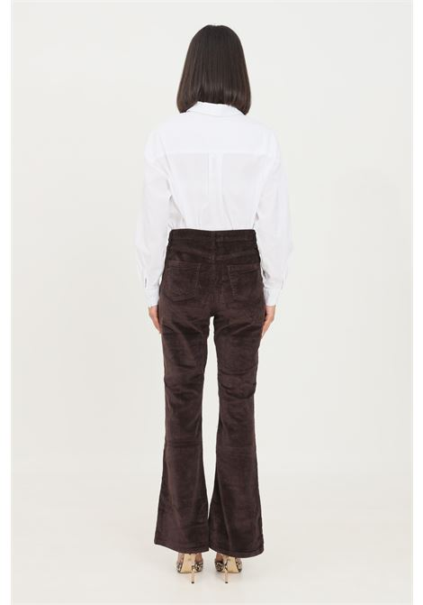 Brown women's trousers by glamorous casual model with wide bottom GLAMOROUS | Pants | CK6192DARK BROWN