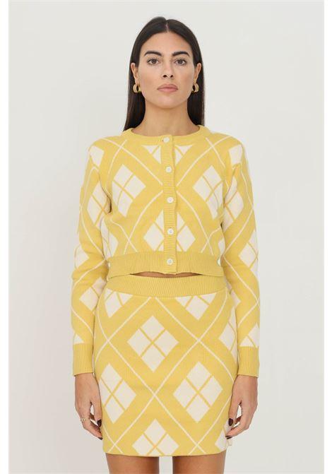 Cardigan donna giallo glamorous con bottoni sul davanti GLAMOROUS   Cardigan   CK6202YELLOW CREAM
