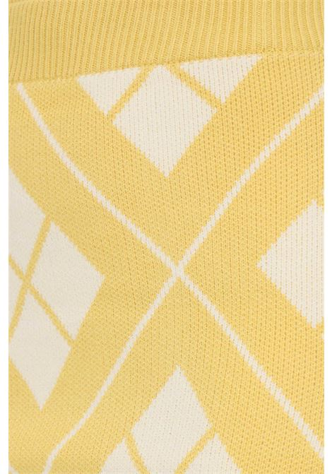 Gonna giallo glamorous corta con trama rombi a contrasto GLAMOROUS   Gonne   CK6203YELLOW CREAM