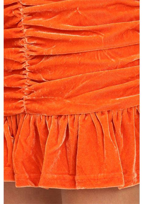 Orange skirt by glamorous short cut with flounces GLAMOROUS | Skirt | GC0435ORANGE