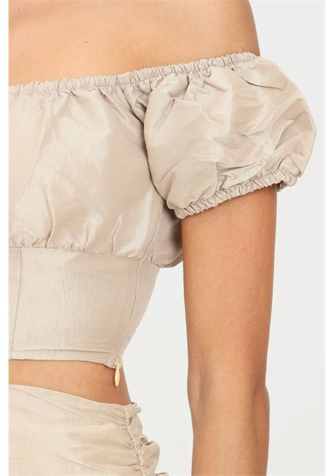 Gold top by glamorous casual model short cut GLAMOROUS | Top | GC0445PALE GOLD
