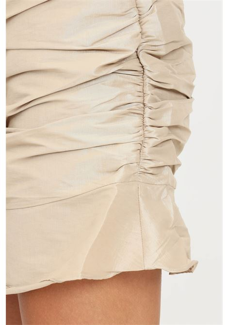 Gold skirt by glamorous short model with curls GLAMOROUS | Skirt | GC0446PALE GOLD