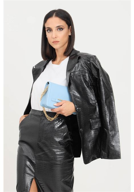 Black women's jacket by glamorous crocodile effect GLAMOROUS | Blazer | GS0343BLACK PATENT CROC
