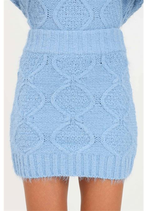 Light blue skirt by glamorous with elastic waistband short cut GLAMOROUS | Skirt | TM0249HERITAGE BLUE
