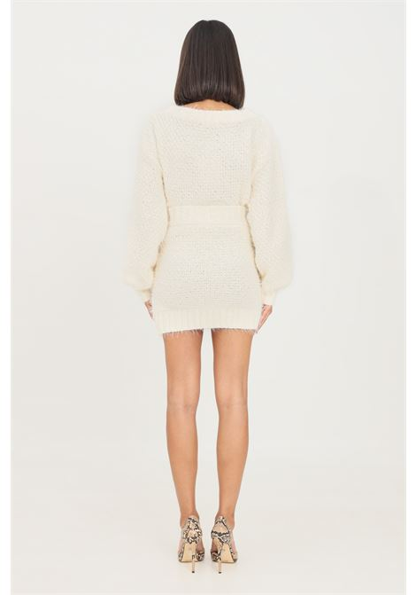 White skirt by glamorous with elastic waistband short cut GLAMOROUS | Skirt | TM0249OFF WHITE
