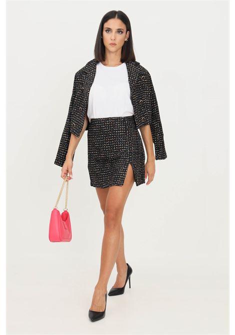 Fantasy skirt by glamorous short cut with side zip GLAMOROUS | Skirt | UR0141BLACK MULTI TWEED