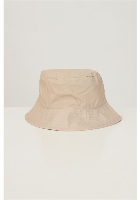 Biscuit unisex bucket by hinnominate with logo embroidery in contrast HINNOMINATE | Hat | HNACA02BISCOTTO