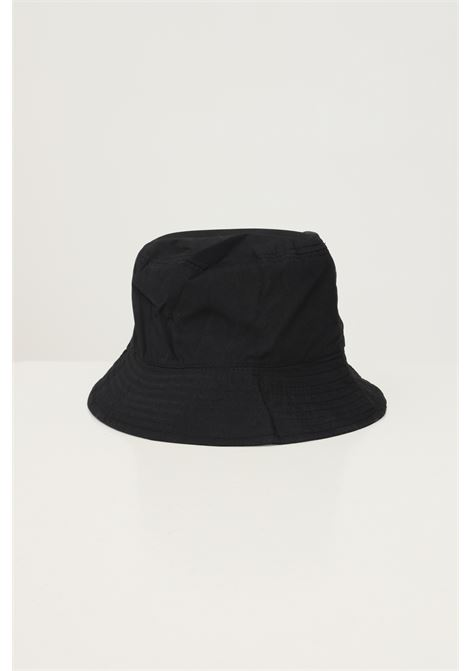 Black unisex bucket by hinnominate with logo embroidery in contrast HINNOMINATE | Hat | HNACA02NERO