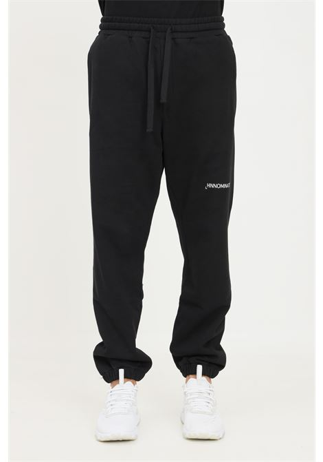 Black unisex trousers by hinnominate, casual model with elastic waistband HINNOMINATE | Pants | HNMSP06NERO