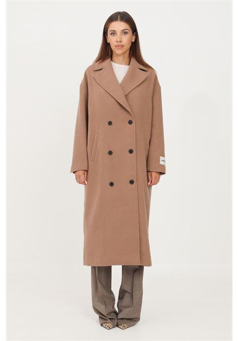 Cappotto donna cammello hinnominate taglio lungo HINNOMINATE | Cappotti | HNWFC75BEIGE
