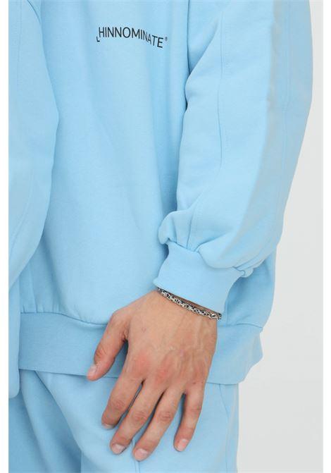 Felpa unisex azzurro hinnominate con cappuccio e logo a contrasto HINNOMINATE | Felpe | HNWSFC06CIELO