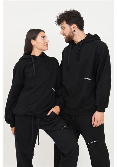 Felpa unisex nero hinnominate con cappuccio e logo a contrasto HINNOMINATE | Felpe | HNWSFC06NERO