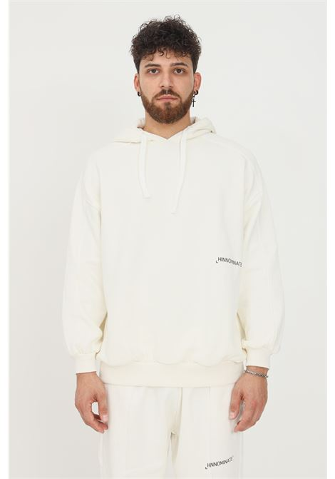 Felpa unisex bianco hinnominate con cappuccio e logo a contrasto HINNOMINATE | Felpe | HNWSFC06OFF WHITE