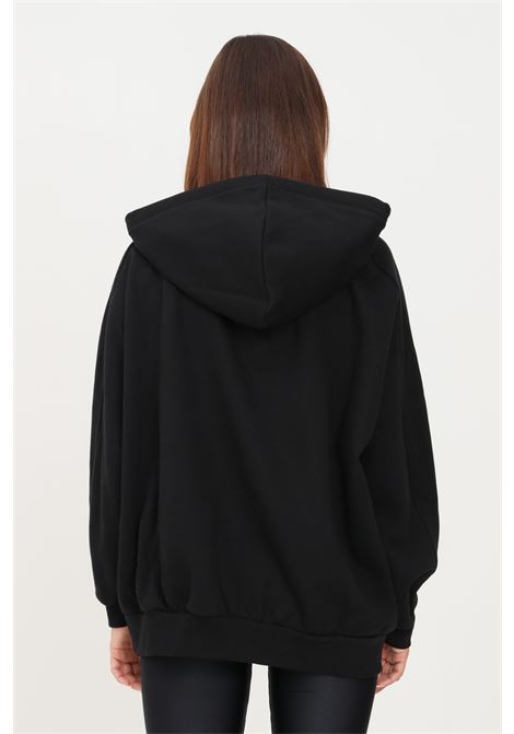 Felpa donna nero hinnominate con cappuccio e maxi logo a contrasto HINNOMINATE | Felpe | HNWSFC13NERO